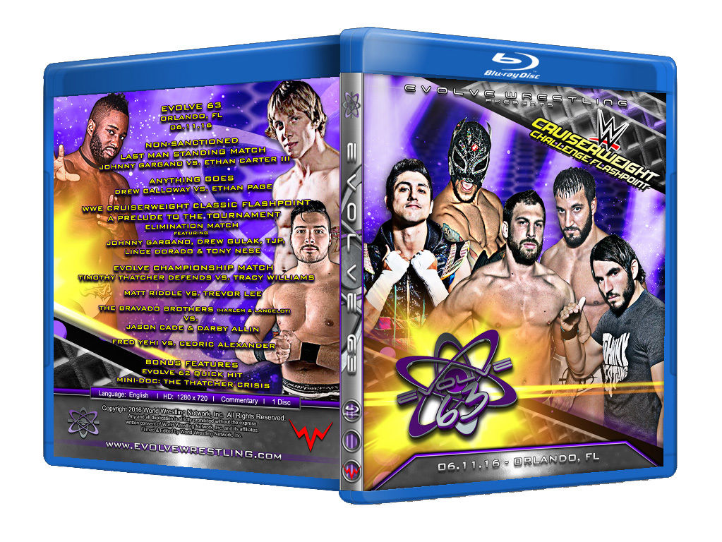 Evolve Wrestling - Volume 63 Event Blu Ray