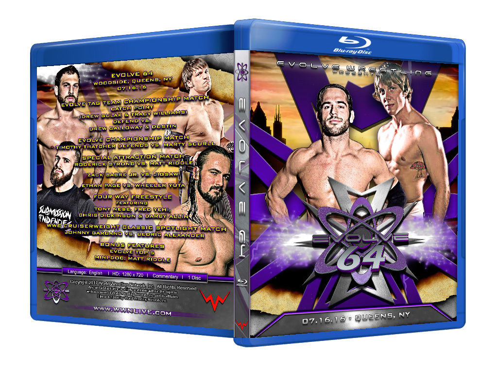 Evolve Wrestling - Volume 64 Event Blu Ray