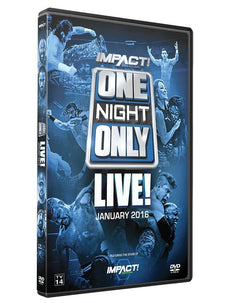 TNA - One Night Only: January LIVE! 2016 Event DVD