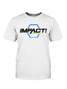 GFW / TNA - Impact Wrestling Anthem White Logo T-Shirt