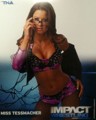 Signed Impact Wrestling - Miss Tessmacher - 8x10 - P38