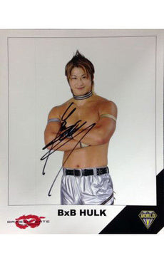 Signed Dragon Gate BxB Hulk 8x10 Picture