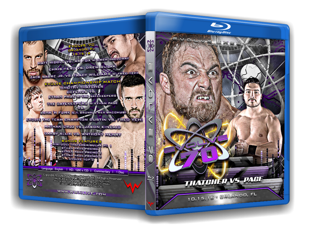 Evolve Wrestling - Volume 70 Event Blu Ray