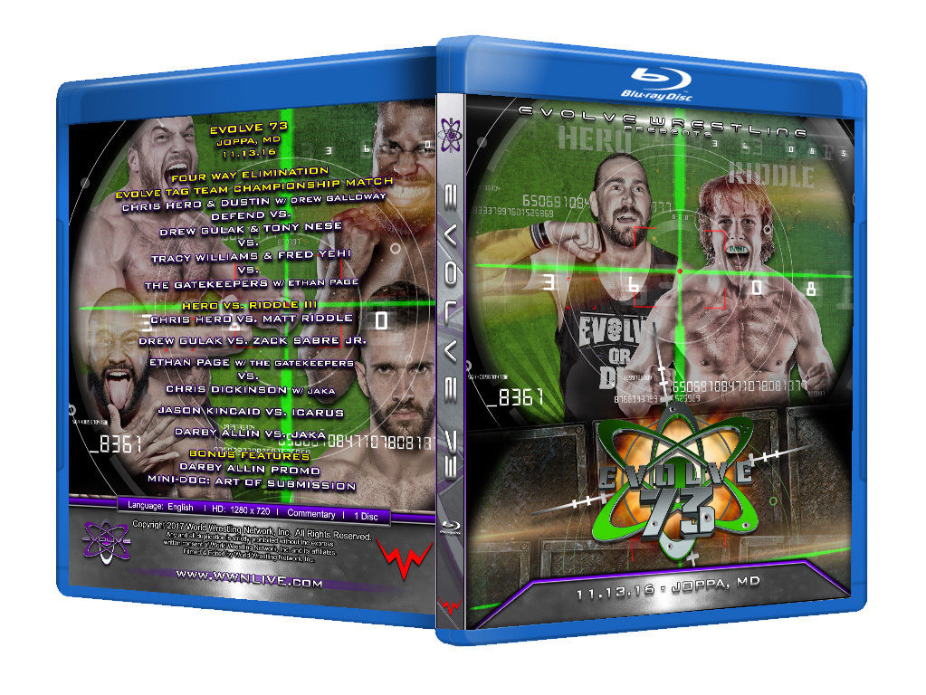 Evolve Wrestling - Volume 73 Event Blu Ray
