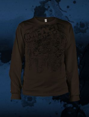 "TNA - Impact Long Sleeve ""Brown Impact"" T-Shirt"