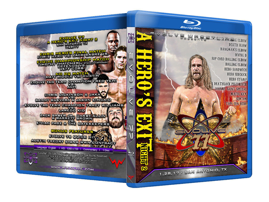 Evolve Wrestling - Volume 77 Event Blu Ray