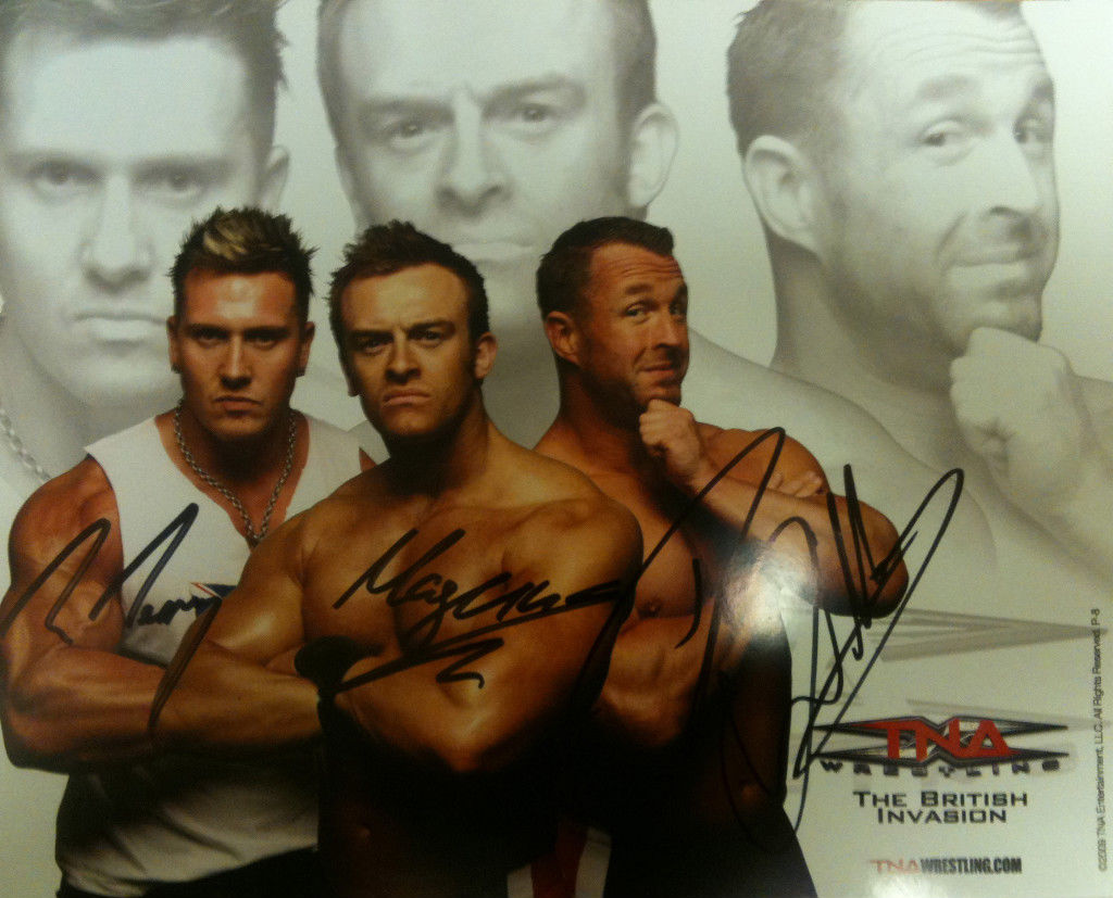 TNA - British Invasion Signed 8x10 P-8 (3 shot)