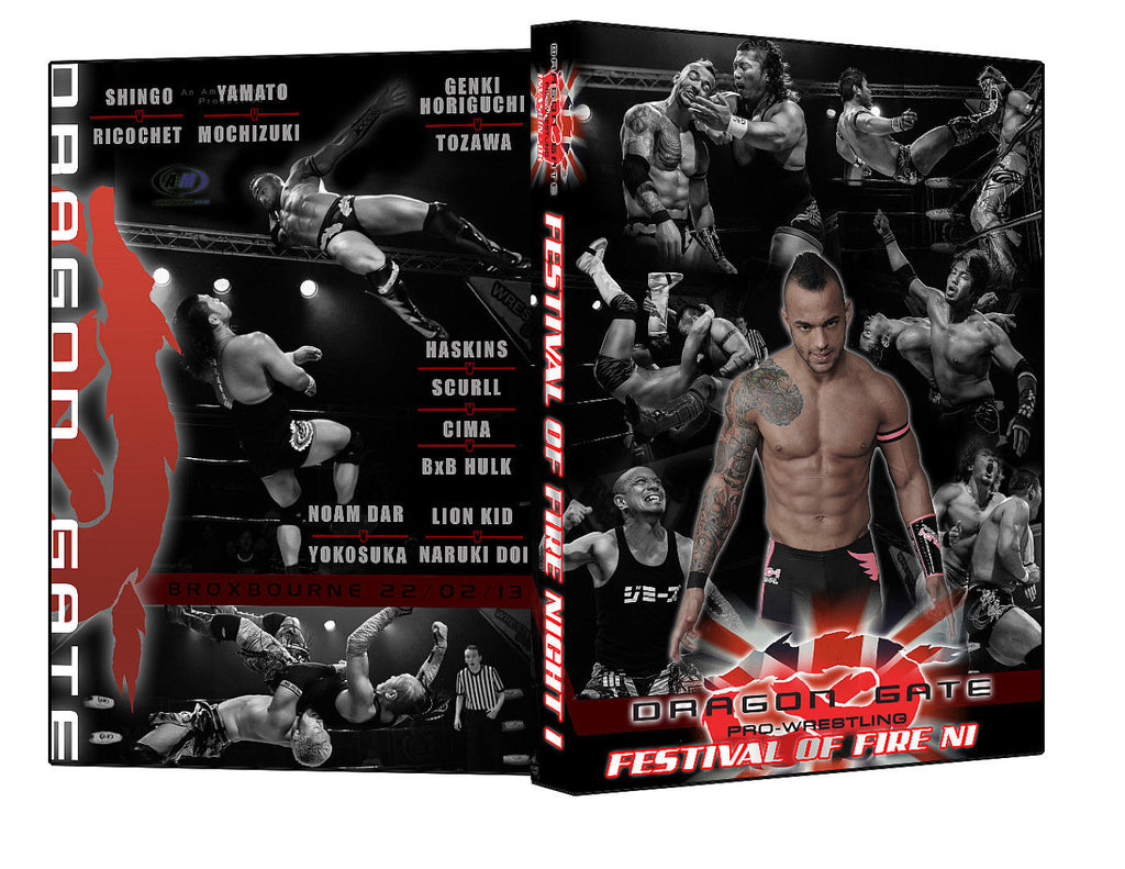 "Dragon Gate UK. ""Festival of Fire Night 1"" Event DVD"