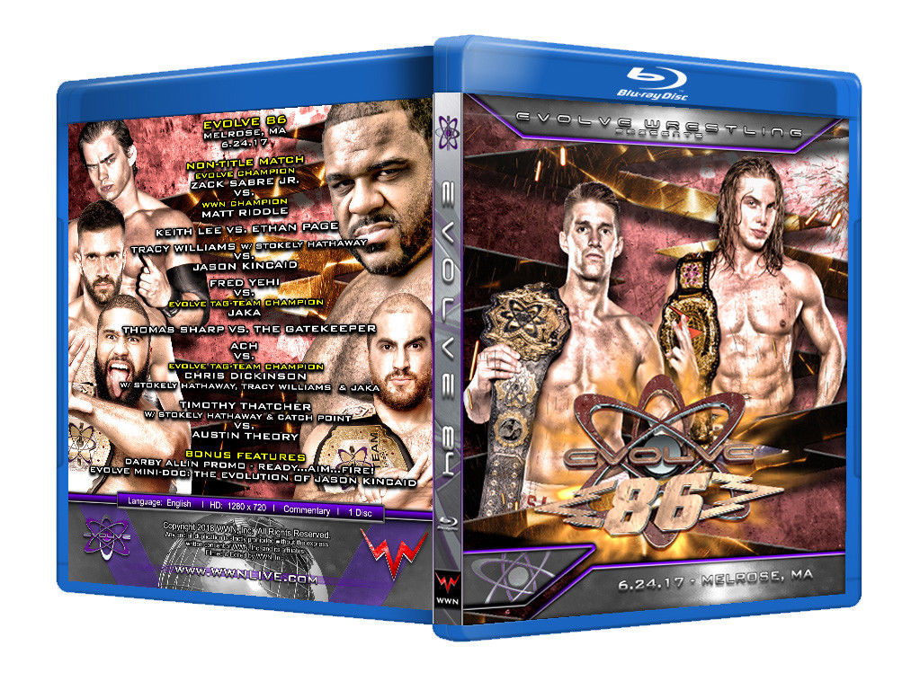 Evolve Wrestling - Volume 86 Event Blu Ray