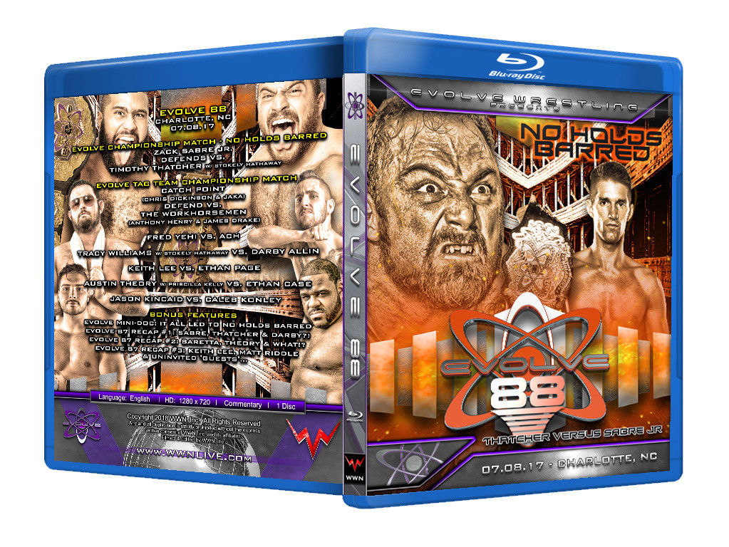 Evolve Wrestling - Volume 88 Event Blu Ray