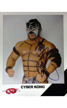 Signed Dragon Gate Cyber Kong 8x10 Picture