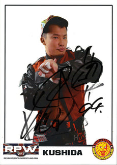 RPW - Kushida Hand Signed A4 Photo