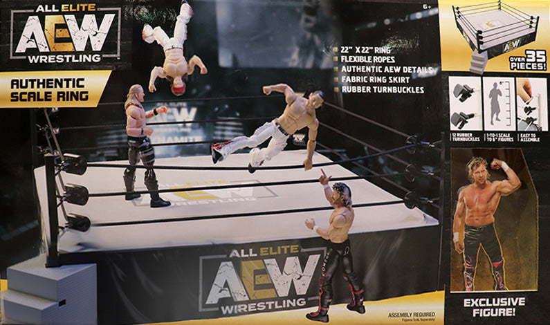 AEW : Authentic Scale Ring Playset (w/ Exclusive Kenny Omega) ( Pre-Order )