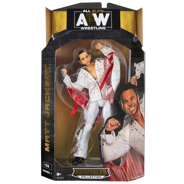AEW : Unrivaled Series 1 : Young Bucks Matt Jackson Figure * US Version * - Packaging Issue