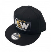 "AEW - ""AEW Logo"" New Era 9Fifty Flatbill Snapback Cap / Hat"