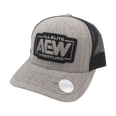 AEW - AEW Leather Patch Snapback Trucker Hat / Cap
