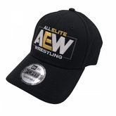 "AEW : All Elite - ""AEW Logo"" New Era 9Forty Adjustable Baseball Cap / Hat"