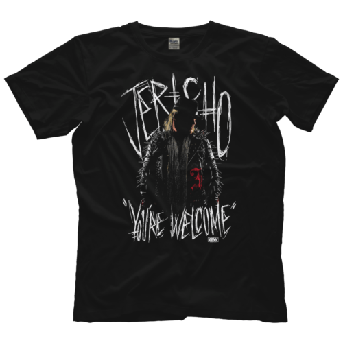 "AEW : All Elite - Chris Jericho - ""You're Welcome"" T-Shirt"