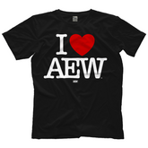 "AEW - ""I Heart AEW"" Black T-Shirt"