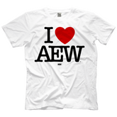 "AEW - ""I Heart AEW"" White T-Shirt"