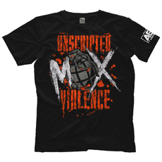 "AEW : All Elite - Jon Moxley ""Unscripted Violence"" T-Shirt"