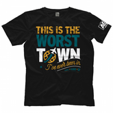 "AEW : All Elite - SCU ""This Is The WORST Town"" T-Shirt"