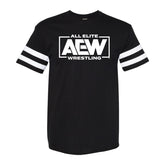 AEW - Striped Sleeve Victory Logo T-Shirt