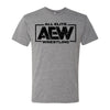 AEW - AEW Black Logo Tri-blend Grey Shirt