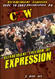 CZW Combat Zone - Ultraviolent Freedom of Expression 2002 2 Disc Set DVD