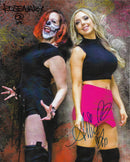 "Demon Bunny - Rosemary & Allie ""Back To Back - Wrestlecade Edition"" Signed 8x10"