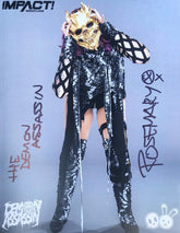 "Demon Bunny - Rosemary ""Impact Face Mask"" Signed 8x10"
