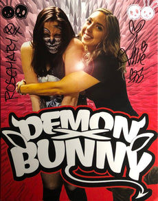 "Demon Bunny -  ""WrestleCade 2019"" Signed 8x10"
