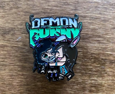 "Demon Bunny - Enamel ""Figures"" Lapel Pin"