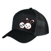 Demon Bunny - Rosemary & Allie - Black Trucker Hat / Baseball Cap