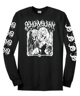 "Demon Bunny - ""Undead Exorcism"" Long Sleeve Hooded T-Shirt"
