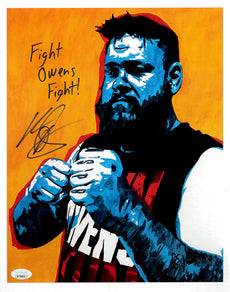 "Highspots - Kevin Owens ""Shamberger Mini"" Hand Signed 11x14 *Inc COA*"