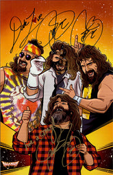 "Highspots - Mick Foley ""Faces Of Foley"" Hand Signed 11x17 *inc COA*"