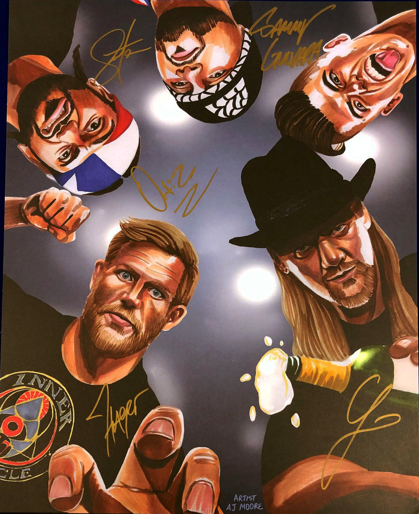 "Highspots - The Inner Circle Hand Signed Artwork 20"" x 16"" Poster *inc COA*"