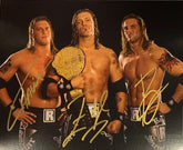 "Highspots - Edgeheads (Edge, Hawkins & Ryder) ""Championship Pose"" Hand Signed 8x10 *Inc COA*"