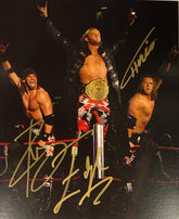 "Highspots - Edgeheads (Edge, Hawkins & Ryder) ""Turnbuckle Pose"" Hand Signed 8x10 *Inc COA*"