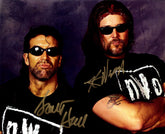 "Highspots - Scott Hall & Kevin Nash ""Outsiders Pose"" Hand Signed 8x10 *inc COA*"