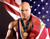"Highspots - Kurt Angle ""Flag Drape"" Hand Signed 8x10 *inc COA*"