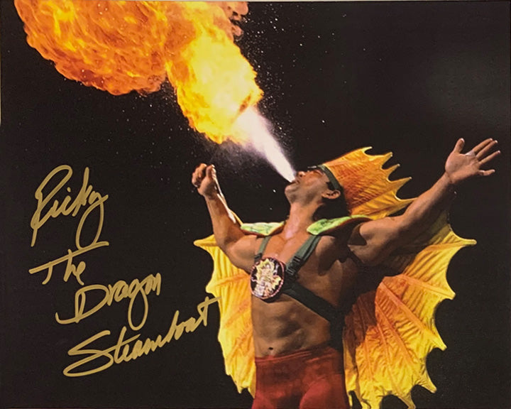 "Highspots - Ricky ""The Dragon"" Steamboat ""Flame"" Hand Signed 8x10 *inc COA*"