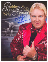 "Highspots - Bobby ""The Brain"" Heenan ""Red Sequin Jacket"" Hand Signed A4 *Inc COA*"