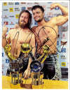 "NJPW - ""Finjuice"" Juice Robinson & David Finlay Hand Signed A4 *inc COA*"