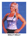 "Highspots - Molly Holly ""Smile"" Hand Signed A4 Photo *inc COA*"