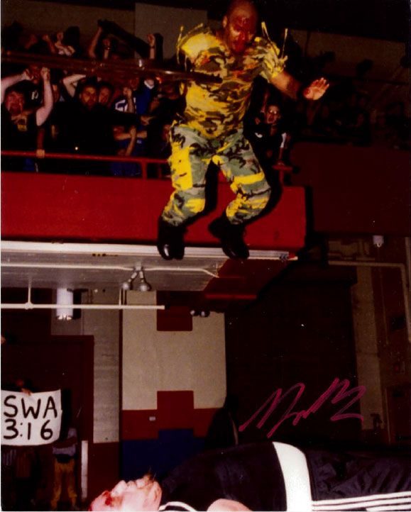 "Highspots - New Jack ""Balcony Dive"" Hand Signed 8x10 *Inc COA*"