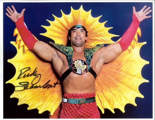 "Highspots - Ricky ""The Dragon"" Steamboat ""Dragon Pose"" Hand Signed A4 *inc COA*"