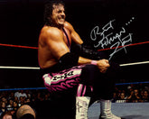 "Highspots - Bret ""The Hitman"" Hart ""Sharpshooter"" Hand Signed 8x10 *Inc COA*"