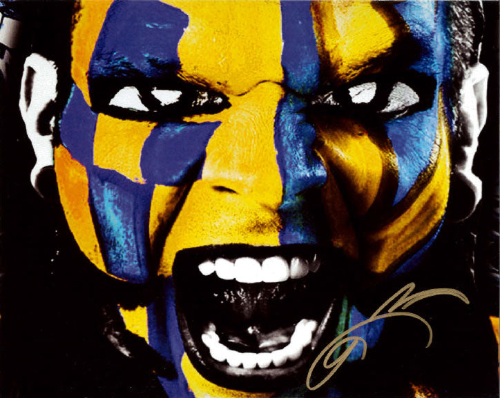 "Highspots - Jeff Hardy ""Yellow Facepaint"" Hand Signed 8x10 *Inc COA*"